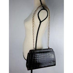 Brown Alligator Vintage Handbag Made in France